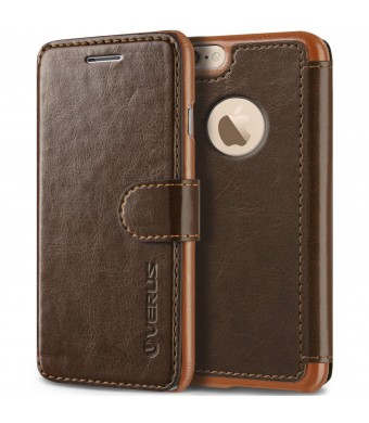 iPhone 6S Plus Case, Verus [Layered Dandy][Coffee Brown] - [Premium Leather Wallet][Slim Fit] For Apple iPhone 6 6S Plus 5.5