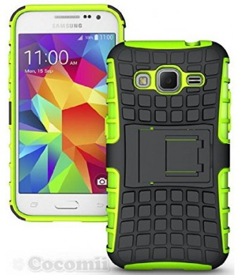 Galaxy Core Prime Case, Cocomii [HEAVY DUTY] Grenade Case *NEW* [ULTRA TITAN ARMOR] Premium Shockproof Kickstand Bumper Case [MILITARY DEFENDER] Full-body Rugged Dual Layer Hybrid Cover (Green) ?????