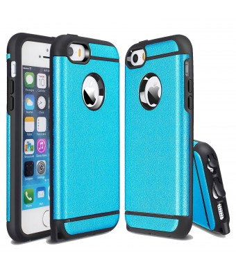 iPhone 5S Case,iPhone 5 Case, CHTech Fashion Double Layer Heavy Duty Protection Scratch Proof Armor Case Cover for Apple iPhone 5/5S [Blue]