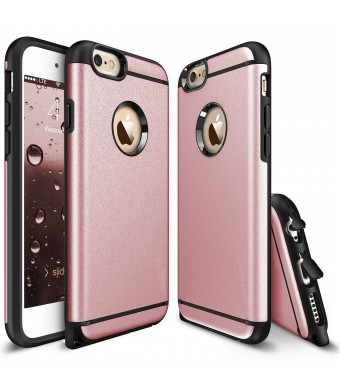 iPhone 6 Plus Case, iPhone 6S Plus Case, CHTech Fashion Double Layer Heavy Duty Protection Scratch Proof Armor Case for Apple Case Cover for Apple iPhone 6 Plus/ 6S Plus [Rose Gold]