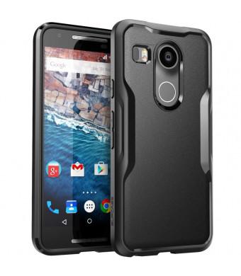 Nexus 5X Case, SUPCASE Google Nexus 5X Case Cover (2015 Release) Unicorn Beetle Series PremiumSlim Hybrid Protective Case / Bumper (Black/Black)