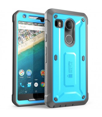 Nexus 5X Case, SUPCASE [Heavy Duty] Belt Clip Holster Case for Google Nexus 5X (2015 Release) [Unicorn Beetle PRO Series] Full-body Rugged Hybrid Protective Cover with Screen Protector (Blue/Black)