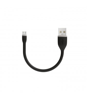Satechi Flexible Micro USB to USB Cable for Android - 6 Inches (15 Centimeters) - Black
