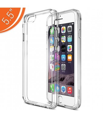 iPhone 6 Plus Case, Trianium [Clear Cushion] Premium iPhone 6 Plus Clear Case Bumper (5.5 Inch) [Scratch Resistant] Shock-Absorbing Cover Hard Back Panel For Apple iPhone 6 Plus 2014