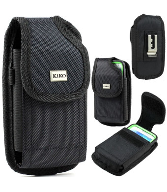 Reiko XXL SIZE Apple iPhone 5S, 5C, 5, iPhone 4S Vertical Nylon Belt Clip Holster Pouch Case Cover (Fits