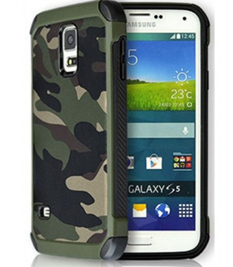 FDTCYDS S5 Case,Samsung galaxy S5 Camo Case Defender Shockproof Drop proof High Impact Armor Plastic and L