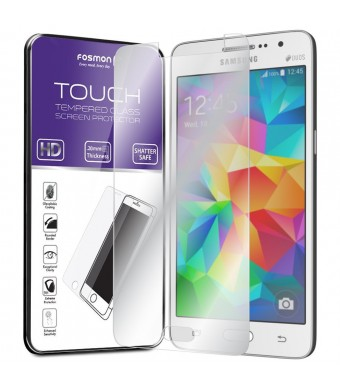 Fosmon Technology Galaxy Grand Prime Tempered Glass Screen Protector - Fosmon TOUCH 0.20mm ULTRA THIN [Shatter Proof