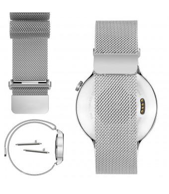 YESOO 18mm Magnetic Milanese Loop Stainless Steel Magnet Closure Lock Bracelet Strap Band For Huawei Wat