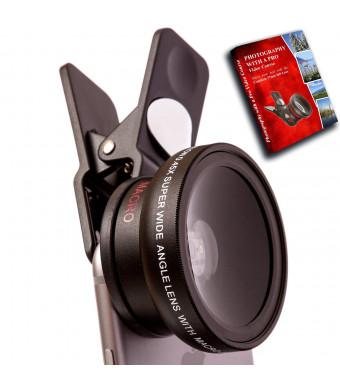 CamRah iPhone Camera Lens Kit (Universal) Pro Series HD DSLR Lens Bundle For iPhone and Samsung Galaxy +