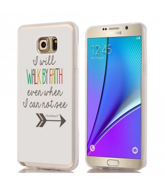 IWON Note 5 Case, Samsung Galaxy Note 5 Case Christian quotes bible verses I will walk by faith even wh