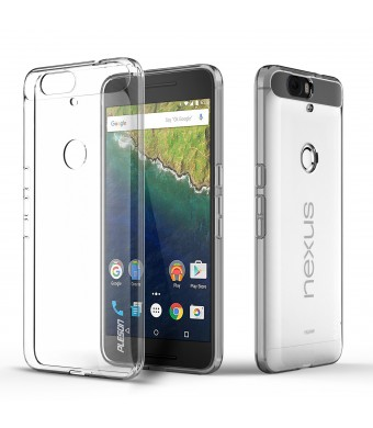 Nexus 6P Case, PLESON [Tou] Huawei/Google Nexus 6P Case Cover,Crystal Clear/Dotted Slim Fit/ Lightweight/ Exact Fit/NO Bulkiness Clear back panel + Soft TPU Protective bumper Case for Nexus 6P (2015)