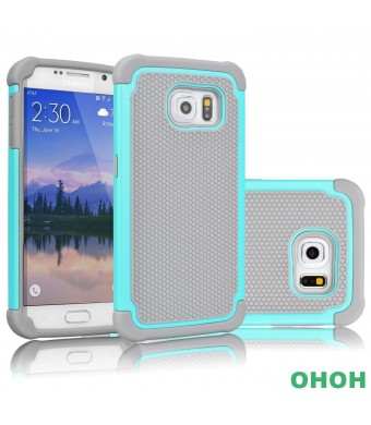 H-O Galaxy S6 Case,Samsung Galaxy S6 Case,[Drop Protection] Premium TPUandPC Armor Full-Body Impact Re