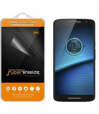 Motorola Droid Maxx 2 Tempered Glass Screen Protector, Supershieldz Ballistics Glass 0.2mm 9H Hardness Anti-Scratch, Anti-Fingerprint, Bubble Free -Crystal Clear - Retail Packaging