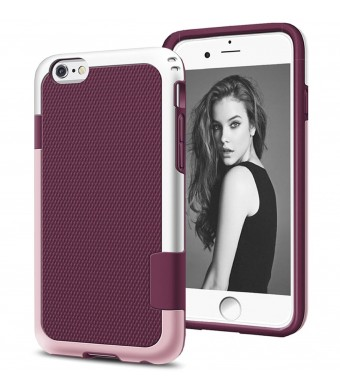 GoTa iPhone 6 Case, Amotus Hybrid Color Waterproof Impact Resistant Slim Cute Cover [Extra Front Raised