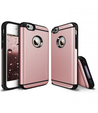 iPhone 4 Case, iPhone 4S Case, CHTech Fashion Double Layer Heavy Duty Protection Scratch Proof Armor Case Cover for Apple iPhone 4/4S (Rose Gold)