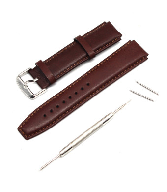 MOTONG 18mm Replacement Genuine Leather Watch Band For HUAWEI Watch (Brown)