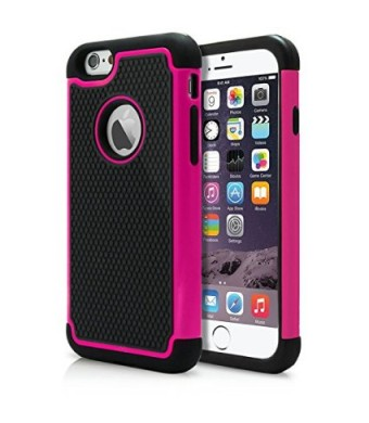 "iPhone 6 and 6S Plus Case, Laxier(TM) Premium Ultra Thin Shock Proof Protective Cover Hard Shell Plastic Rubber Silicone Case For Apple iPhone6 / iPhone6S Plus 5.5 inches (5.5"")(Pink)"