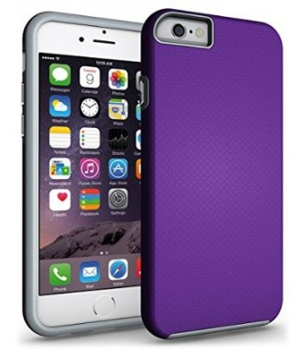 iPhone 6 Case, iPhone 6S Case, CellEver Dual Guard Series Protective Shock-Absorbing Anti-Scratch Dual Layer Cover for Apple iPhone 6 / 6S (4.7 inch) - Purple