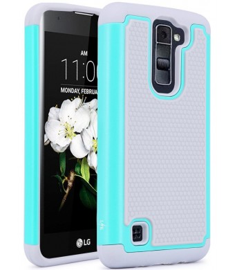 LG Tribute 5 Case, LG K7 Case, LK [Shock Absorption] Drop Protection Hybrid Dual Layer Armor Defender Protective Case Cover for LG Tribute 5 / LG K7, Mint