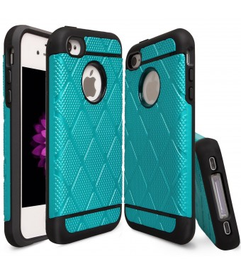 iPhone 4S Case, iPhone 4 Case, Drvan Dual Layer Shockproof Luxury Hybrid Defender Armor Case for Apple iPhone 4 / iPhone 4S - Blue