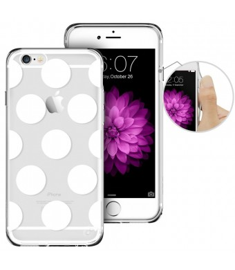 iPhone 6 Case, iPhone 6 Case Clear with Design, ESR iPhone 6 [Slim Fit ][Ultra Hybrid] Integrated Cover Soft TPU Bumper+ Hard Back Panel for 4.7 inches iPhone 6s / iPhone 6 (Polka Dots)