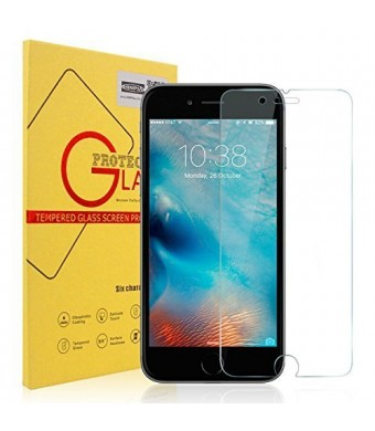 iPhone 6s Screen Protector, Hinpia iPhone 6s/6 Premium Tempered Glass Screen Protector for Apple iPhone 6s and iPhone 6 (4.7 inch) - 0.26mm Thickness, 2.5D Rounded Edge, 99.99% HD Clarity, 9H Hardness