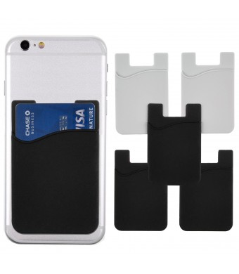 Diamond Shield Stick-On Wallet - ID/Credit Card Holder For Phones - Strong 3M Adhesive - Universal Size fits most