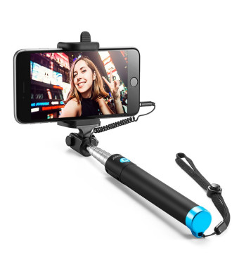 Selfie Stick, Anker Extendable [Battery Free] Wired Handheld Monopod for iPhone Se/6s/6/6 Plus, Samsung Galaxy S7/S6/Edge, Note 5/4, Nexus 6P, LG G5, Moto X/G and More