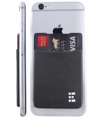 Zero Grid Cell Phone Credit Card Holder Stick On Wallet Case w/ RFID Blocking