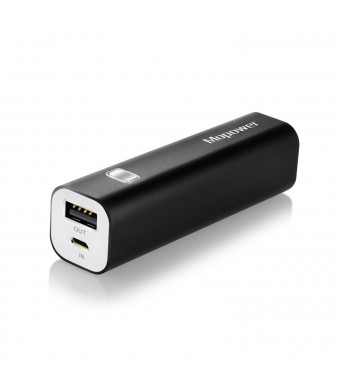 Portable Charger,Mopower 3000mAh Power Bank Lipstick-shaped Aluminum Metal External Backup Battery Pack for iPhone 6 4 5S 4S, iPad ,Galaxy S6 Note 3, iPod,HTC,Sony,LG, Mobile Digital Devices (Black)
