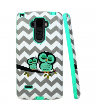LG G Stylo Case, Style4U Cute Owl Design Slim Fit Hybrid Armor Case for LG G Stylo / LG G4 Stylus LS770 with 1 Style4U Stylus [Owl Mint Green]