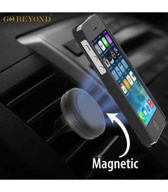 Go Beyond (TM) Car Mount, Universal Air Vent Magnetic Car Mount Holder, for Cell Phones and Mini Tablets, Magnetic Cell Phone Mount (black)