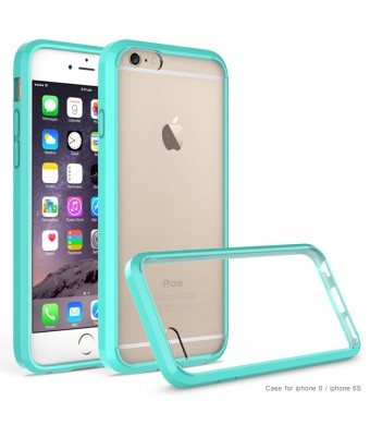 iPhone 6 case,iPhone 6S case AUMI Crystal Clear Shock-Dispersion Technology Scratch Resistant Bumper Case with Clear Back Panel for iPhone 6 6S (Green)