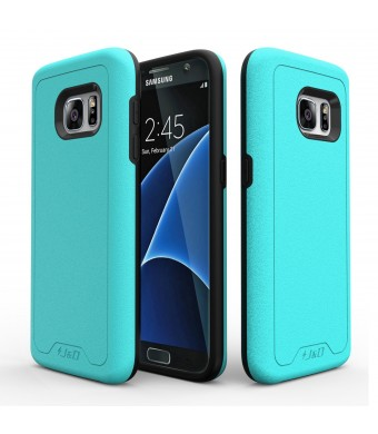J&D Tech Galaxy S7 Case, JandD [Slim Armor] Samsung Galaxy S7 Case [Heavy Duty] [Dual Layer] Hybrid Shock P