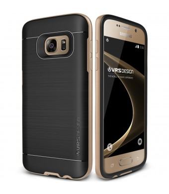 Verus Galaxy S7 Case, VRS Design [High Pro Shield][Shine Gold] - [Brushed Metal Texture][Drop Protection