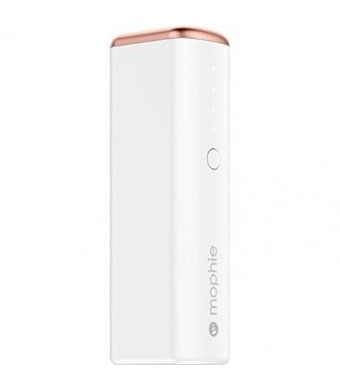 mophie External Battery Pack for iPhone, Android, Smartphones, iPad, iPod - Retail Packaging - Ros