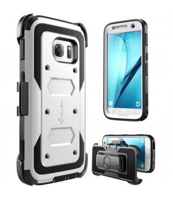 Galaxy S7 Case, [Armorbox] i-Blason built in [Screen Protector] [Full body] [Heavy Duty Protection ] Shock Reduction / Bumper Case for Samsung Galaxy S7 2016 Release (White)