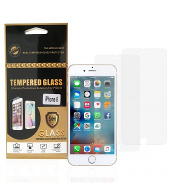 """1 Up Products iPhone 6 / 6S Screen Protector, 1Up Products 4.7"""" Case Impact Premium Tempered Glass Screen Prote"""