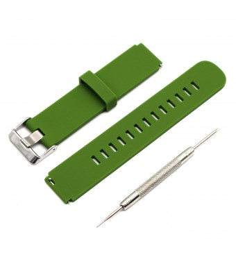 MOTONG 18mm Replacement Silicone Watch Band For HUAWEI Watch (Silicone Olive Green)