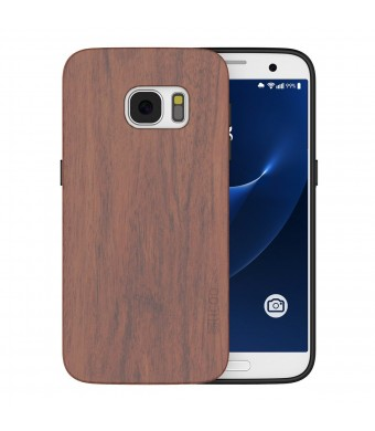S7 Case,Galaxy S7 Case,Slicoo Wood Bamboo Slim Covering Case for Samsung Galaxy S7 (2016) (Rose Wo