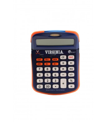 Collegiate Series 00539 UNIVERSITY OF VIRGINIA Solar-Powered Calculator with School Logo and Colors