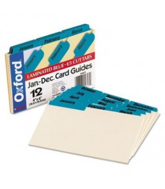 ESS04613 - Oxford Laminated Tab Index Card Guides