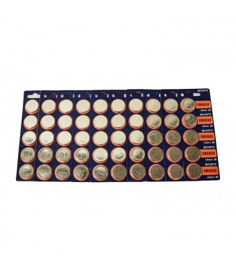 CR2032 Sony Lithium 3V Battery 50 Pcs