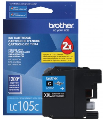 Brother Printer LC105C Super High Yield Cartridge Ink, Cyan