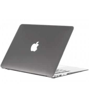 "Kuzy - AIR 13-inch GRAY Rubberized Hard Case for MacBook Air 13.3"" (A1466 and A1369) (NEWEST VERSION) Shell Cover - Gray"