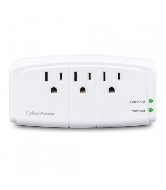 CyberPower CSB300W Essential 3-Outlet Surge Suppressor - Wall Tap