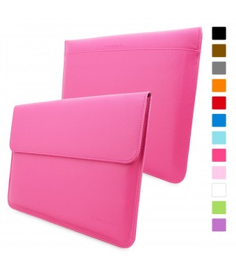 Snugg Macbook Air and Pro 13 Inch Case - Pink Leather Sleeve Case with Lifetime Guarantee (Hot Pin