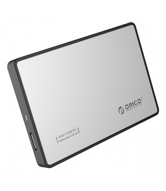 ORICO 2588US3 USB 3.0 to 2.5-inch HDD/SSD SATA External Hard Drive Enclosure - Silver