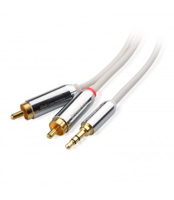 Cable Matters 3.5mm to 2RCA Stereo Audio Cable 10 Feet in White
