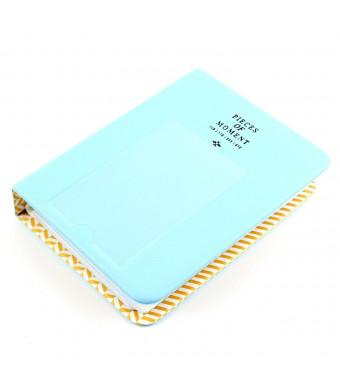 EvZ 64 Pockets Photo Album for Mini Fuji Instax Polaroid and Name Card Blue